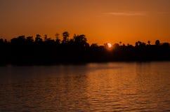 Romantic sunset  in Santa Cruz. California. US royalty free stock images