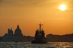 Romantic sunset in Venice, Italy Stock Image