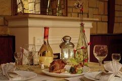 Romantic supper Stock Photos