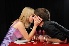 Romantic supper Royalty Free Stock Image