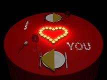 Romantic supper Stock Photo