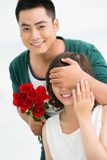 Romantic surprise Stock Image