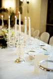 Romantic table Stock Images