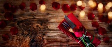Romantic table decoration stock photography