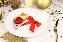 Romantic table decoration Stock Images