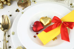 Romantic table decoration Royalty Free Stock Photos