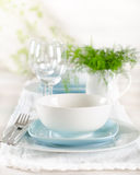 Romantic table set up for two Stock Image