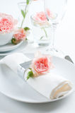 Romantic table setting Stock Photo