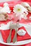 Romantic table setting Stock Image