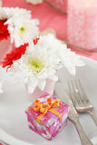 Romantic table setting Stock Image