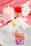 Romantic table setting Stock Photos