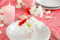 Romantic table setting Stock Images