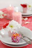 Romantic table setting Stock Photo