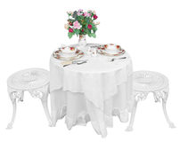 Romantic Table Setting for Two Stock Images