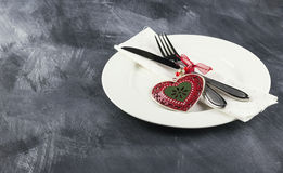 Romantic table setting for Valentines day Stock Images