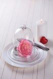 Romantic table setting Stock Photography