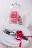 Romantic table setting Royalty Free Stock Photo