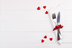 Romantic table setting Royalty Free Stock Image