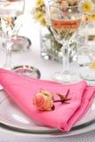 Romantic table settings Stock Photos