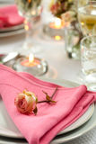 Romantic table settings Stock Image