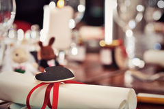 Romantic table setup Royalty Free Stock Images
