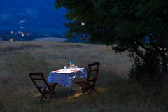 Romantic table Royalty Free Stock Image