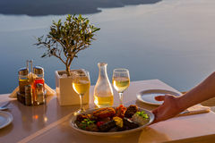 Romantic table for two Stock Image