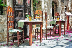Romantic tables Royalty Free Stock Photo