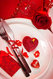 Romantic tableware Royalty Free Stock Image