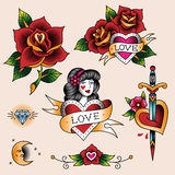 Romantic tattoos Stock Photo