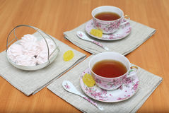 Romantic tea Royalty Free Stock Photo