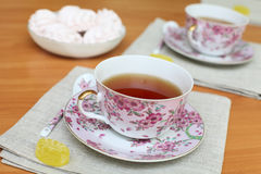 Romantic tea Stock Photography