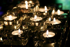 Romantic tea lights Stock Image