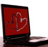 Romantic technology stock photo