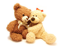 Romantic teddy-bears Royalty Free Stock Images