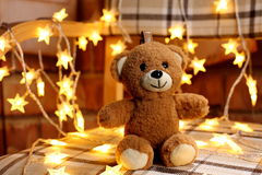 Romantic teddy-bears Christmas gift Royalty Free Stock Photography