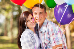 Romantic teen couple Royalty Free Stock Photos