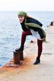 Romantic teen girl royalty free stock photos