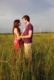 Romantic teenage couple Stock Images