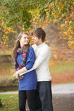 Romantic Teenage Couple Stock Photo