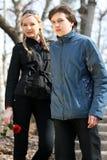Romantic Teenagers Stock Image