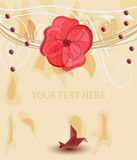 Romantic template for invitation card Stock Images
