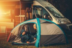 Romantic Camping Spot royalty free stock image