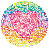 Romantic test. A test for colour blindness with heart Royalty Free Stock Photos