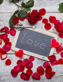 Romantic text royalty free stock images