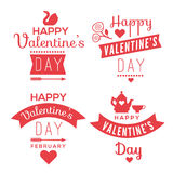 Romantic texts set. Set of decorative design elements representing Valentine's day related quotes and words. Typographic compositions with romantic symbols vector illustration