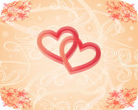 Romantic texture with hearts Royalty Free Stock Photos