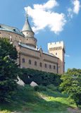 Romantic towers of Bojnice castle, Slovakia Royalty Free Stock Image