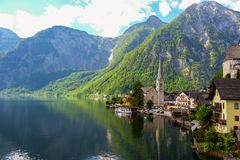 Hallstatt Austria. Romantic town in Austria Royalty Free Stock Photography