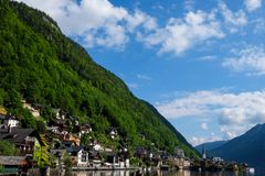 Hallstatt Austria / village. Romantic town in Royalty Free Stock Images